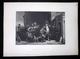 After David Wilkie C1870 Antique Print. The Parish Beadle